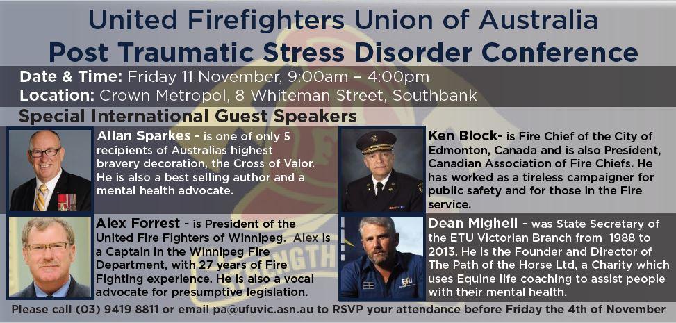 UFUA PTSD Conference Invitation